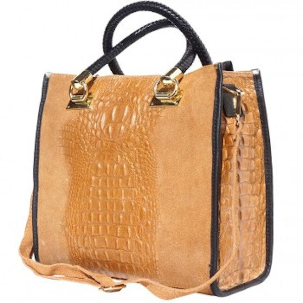 OPEN TOTE BAG IN EMBOSSED CROCODILE PATENT CALF-LEATHER-FLM-JetSet