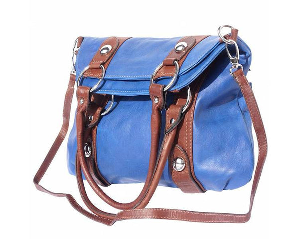 GENUINE LEATHER PURSE WITH DOUBLE HANDLE AND REMOVABLE SHOULDER STRAP-FLM-JetSet