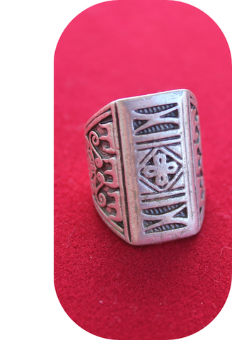 Mexican Silver Ring Cross-JetSet-JetSet