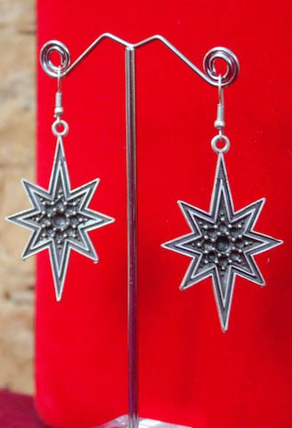 Mexican Silver Stars Earrings-JetSet-JetSet