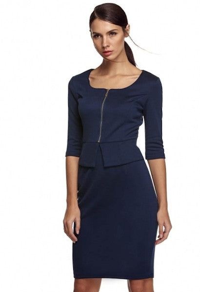 Stylish Office Fake Two Parts Dress-DL-JetSet