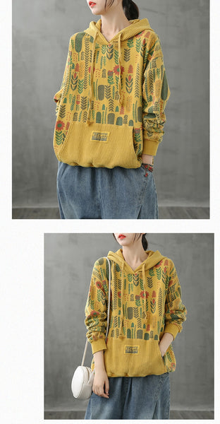 Max LuLu Korean Fashion Designer Clothes Ladies Printed Sweatshirts Womens Casual Hooded Hoodies Oversized Streetwear Plus Size
