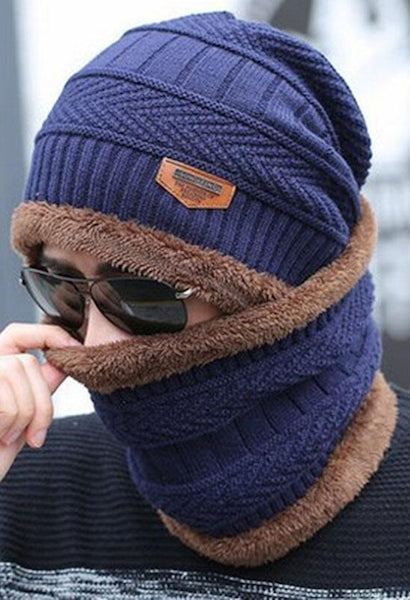 1c89973e9fc Winter burst knitted hat men s autumn and winter models two-piece ladi –  JetSet