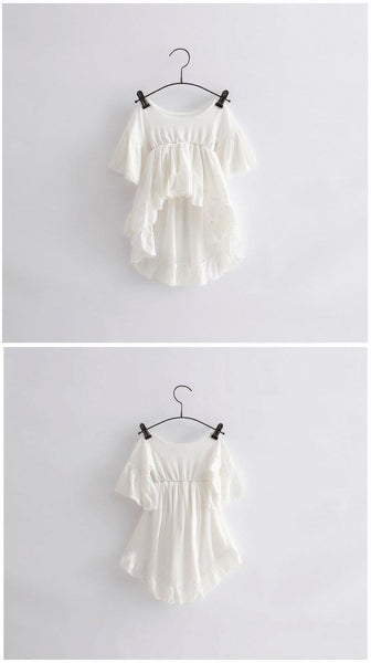 Girls Vintage Ruffles White Cotton Fashion Blouse-Alessio Eno-JetSet