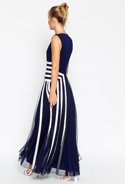 Elegant Maxi Geometric Evening Dress-Alessio Eno-JetSet