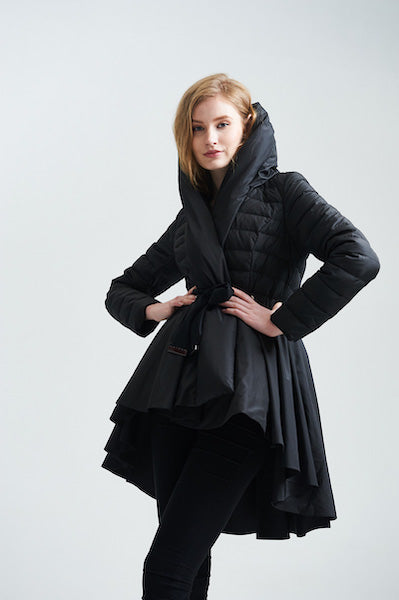 High Quality 2018 Winter High-end Brand Italy Fashion Designer Women's Skirt Hem Style Asymmetric Long Down Coat-JetSet-JetSet