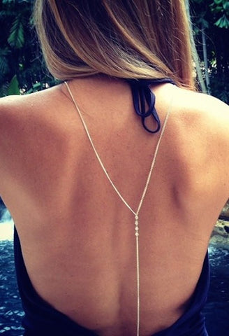 Crystal Back Body Chain Women Sexy Necklace-Alessio Eno-JetSet