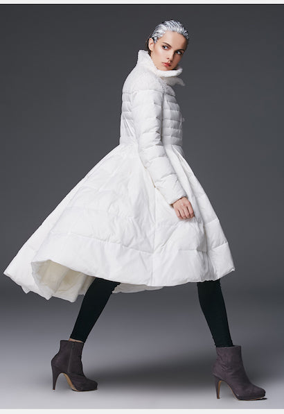 Winter High-end Female Skirt Duck Down Coat-Alessio Eno-JetSet