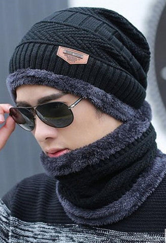 Winter burst knitted hat men's autumn and winter models two-piece ladies hats cap Winter men winter hat balaclava-Alessio Eno-JetSet