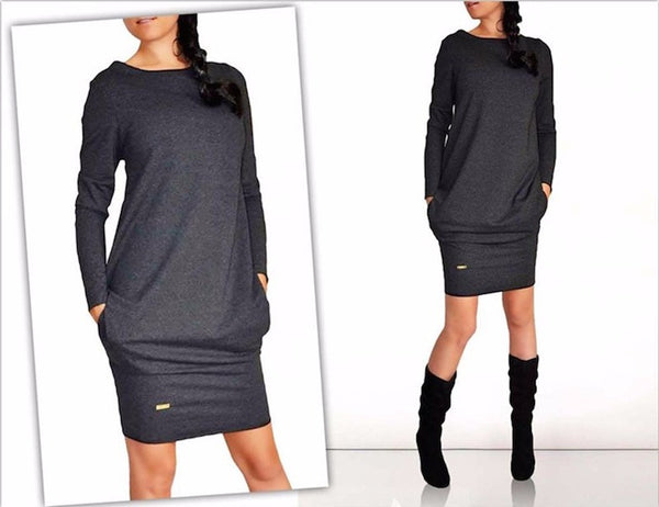 Autumn Winter Mini Dress-AE-JetSet