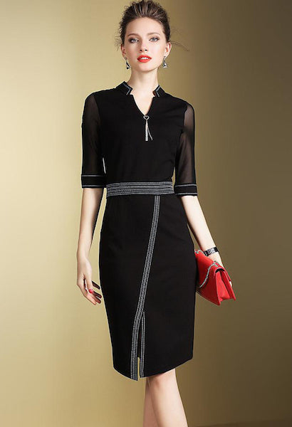 Elegant Office Pencil Dress-Alessio Eno-JetSet