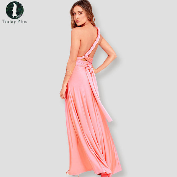 Sexy Women Boho Maxi Club Dress Red Bandage Long Dress Party Multiway Bridesmaids Convertible Robe Longue Femme Vestidos-JetSet-JetSet