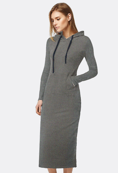 2017 New Autumn&Winter Casual A-line Ankle-length Hooded Dress-Alessio Eno-JetSet