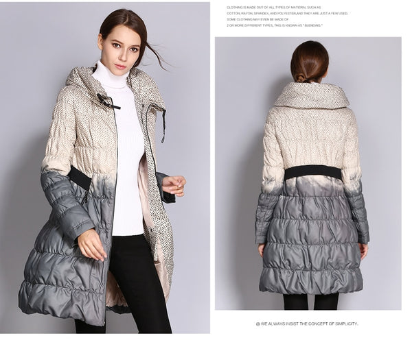 COUTUDI Winter Down Coat Women Parka Female Long Duck Down Padded Jacket Down Parka Hit Color High Quality Women's Clothing-JetSet-JetSet