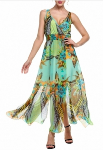 Finejo Bohemian Maxi Dress-DL-JetSet