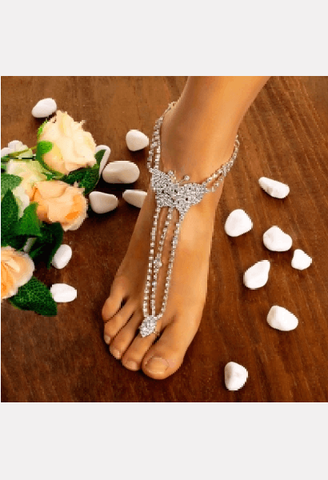 Butterfly Barefoot Anklet-WSB-JetSet