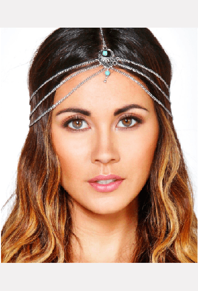 Stone Detail Hair Chain-B-JetSet