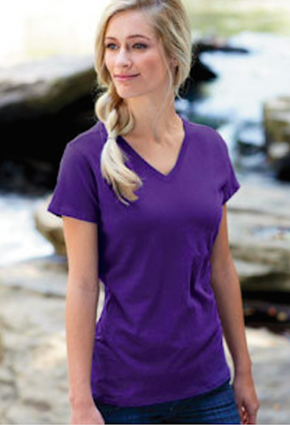 Women's 100% Organic Cotton V-Neck T-Shirt-TSW-JetSet
