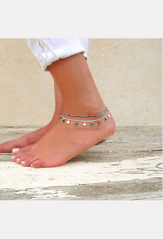 Beach Turquoise Anklet-MIB-JetSet