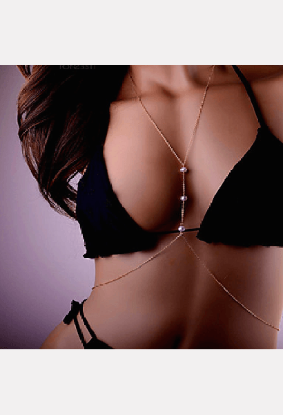 Sexy Body Chain With Pearls-MIB-JetSet