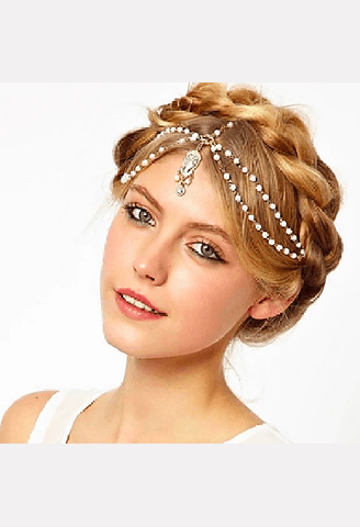 White Bead Headband-MIB-JetSet