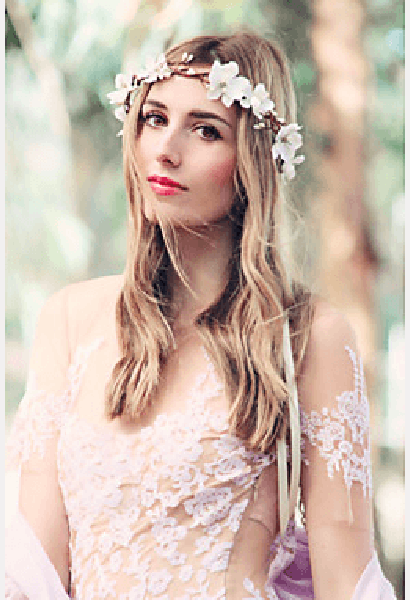 Bridal Flower Crown-MIB-JetSet