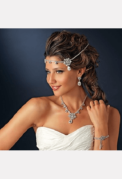 Crystal Zircon Headband for Wedding Party-MIB-JetSet