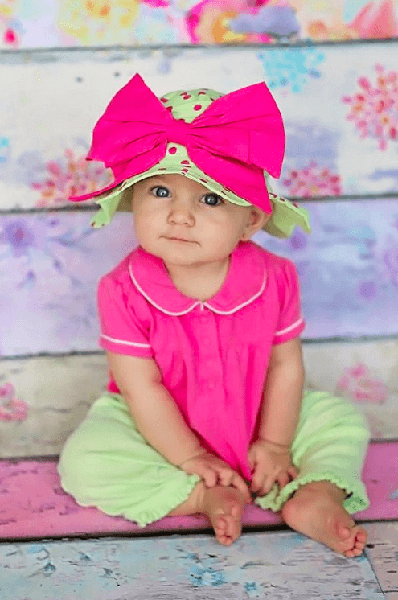 LIGHT ALOE SUN HAT WITH CANDY PINK BOW-RAE-MI-Jamie Rae Hats-JetSet