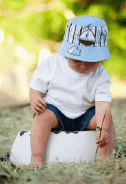 BABY BLUE SUN HAT WITH BABY BLUE SAIL BOAT-Jamie Rae Hats-JetSet