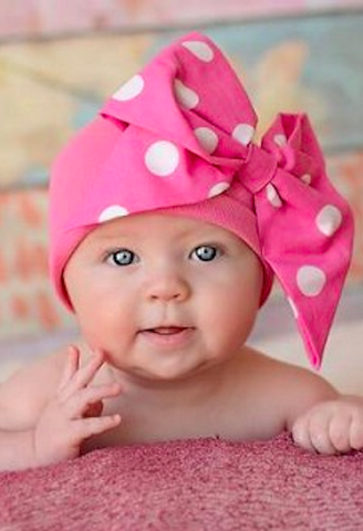CANDY PINK COTTON HAT WITH PINK WHITE BOW-RAE-MI-Jamie Rae Hats-JetSet