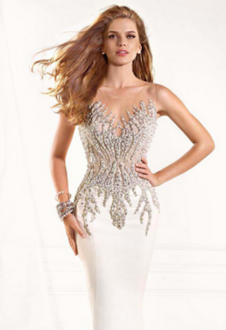 Sexy Illusion Mermaid Evening Dress-AE-JetSet