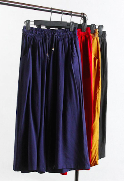 Casual Wide leg Bamboo linen Trousers-Alessio Eno-JetSet