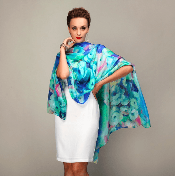 100% Mulberry Silk Long Scarf-Alessio Eno-JetSet