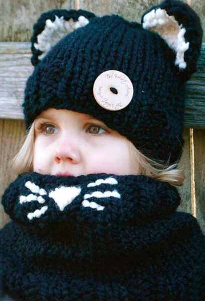 Cute Baby Girl Scarf and Hat-AE-JetSet