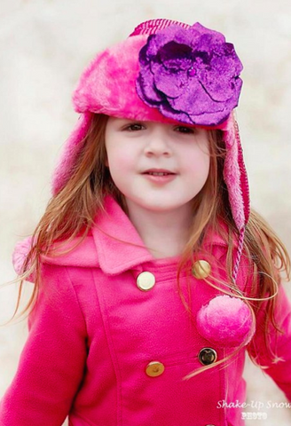 RASPBERRY COUTURE WINTER WIMPLE WITH SEQUINS PURPLE ROSE-Jamie Rae Hats-JetSet
