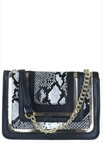 Trendy Snake Skin Fashion Cross Body Bag-FG-JetSet