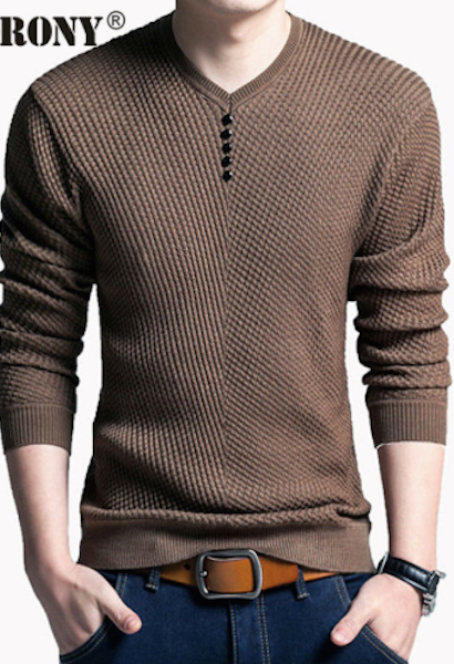 Solid Color Pullover Men V Neck Sweater Men Long Sleeve Shirt Mens Sweaters Wool Casual Dress Brand Cashmere Knitwear Pull Homme-Alessio Eno-JetSet