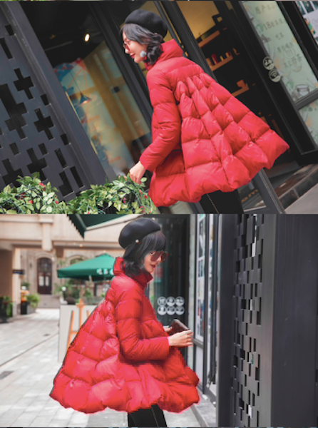 Women's winter down jacket Cloak Thickening and fattening Casual style-JetSet-JetSet