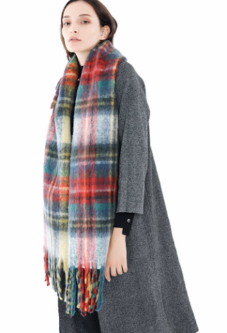 50d2293410d86 2018 New Fashion Long Scarf Shawl Female Autumn and Winter New Color Mixed  Wild Warm Thick