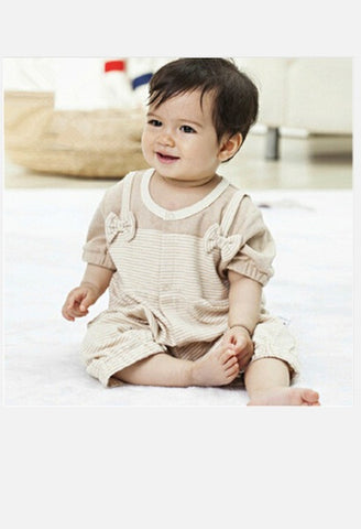 Short Sleeves Organic Colored Cotton Baby Clothes-AE-JetSet