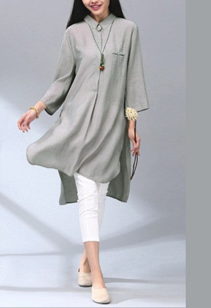 Elegant Cotton Retro Long Shirt-Alessio Eno-JetSet