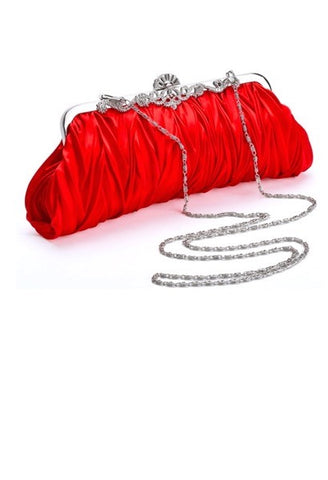 Elegant Satin Evening Clutch-WSB-JetSet