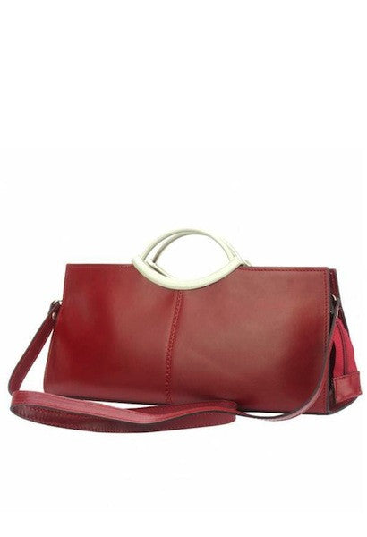 HANDBAG CIPRESSINO WITH DOUBLE HANDLE MADE OF GENUINE CALF LEATHER-FLM-JetSet