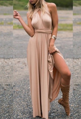 Ladies Sexy Women Maxi Club Dress Bandage Long Party Multiway Swing Dress Convertible Infinity Robe Bridesmaids Boho Women Dress