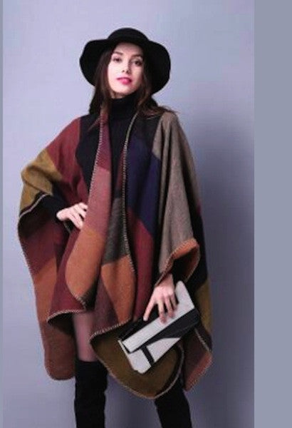 Winter/Autumn/Spring Poncho/Cape in 18 Patterns-Alessio Eno-JetSet
