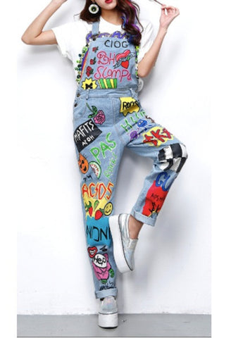 Cartoon drawings Denim Overalls-Alessio Eno-JetSet