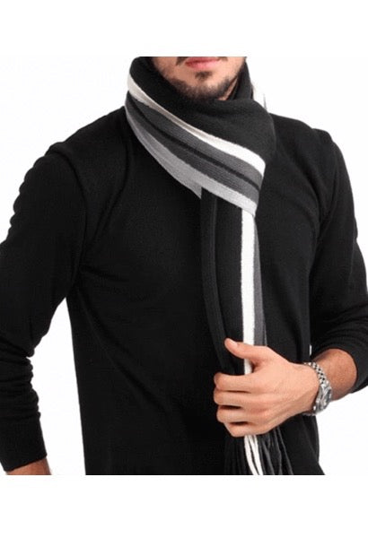 Winter Design Striped Men Shawl-Alessio Eno-JetSet