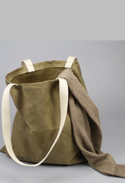 Waxed Canvas Tote Bag-Italic Home-JetSet