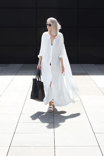 Summer Long Loose Shirt Dress-Alessio Eno-JetSet