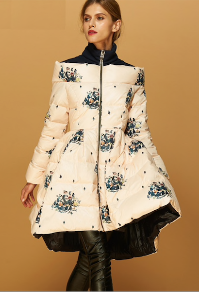 designer clothes flower print plus size women jacket women's coat winter jacket skirt women coat luxury autumn ladies quilted-JetSet-JetSet
